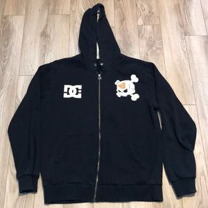 Dc Hoodie sweater I have a small and a medium.